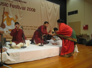 Mrs Raman presenting Ganesh