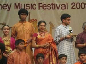 Sudha Raghunathan and prize winning children