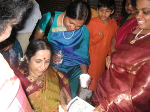 Aruna Sairam With Fans