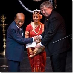 SVT president, Padma Balakumar and Laurie Ferguson