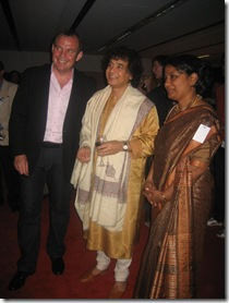 Richard Evans, CEO of Opera House, Zakhir Hussain and High Commissioner Sujatha Singh