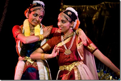 Malavika and Bhavya as Krishna and Radha
