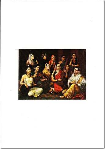 Galaxy of Musicians - Raja Ravi Verma's Painting